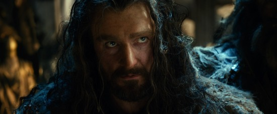 Thorin glares at Thranduil