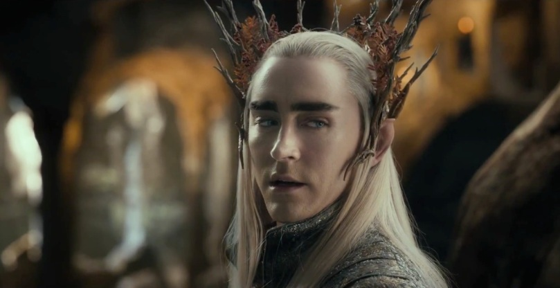 Thranduil (Lee Pace) talks to Thorin