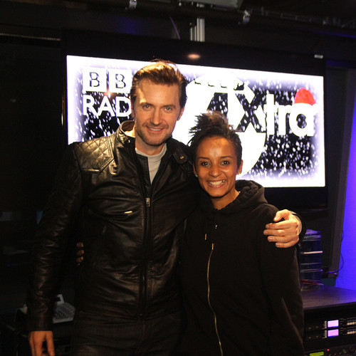Richard with British radio host Adele Robbins