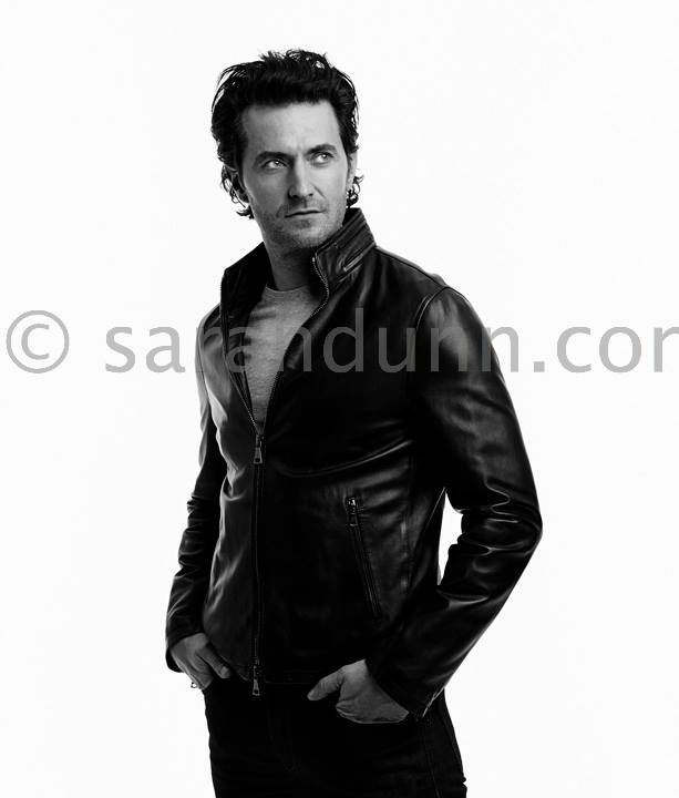 Longer hair & leather- yeah!  This fab shot is by celeb photographer Sarah Dunn.