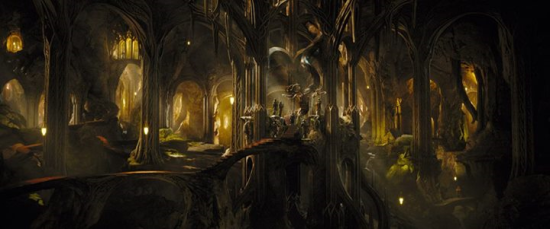 The throne of the elven king, Thranduil