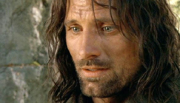 Aragorn (Viggo Mortensen) realizes that Frodo must go alone to Mordor