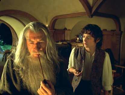 Gandalf (Ian McKellan) & Frodo (Elijah Wood)