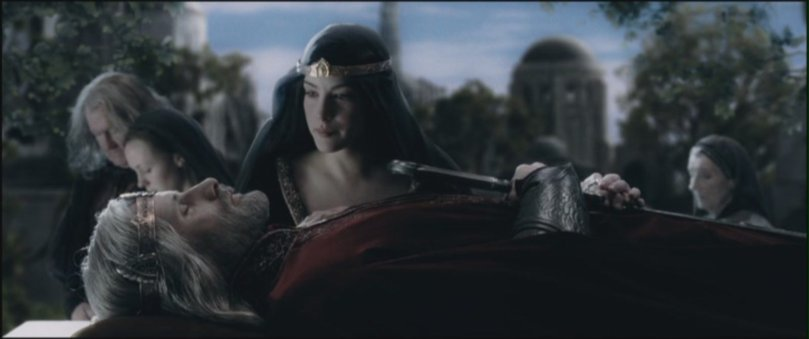 Flash forward scene with Arwen (Liv Tyler)