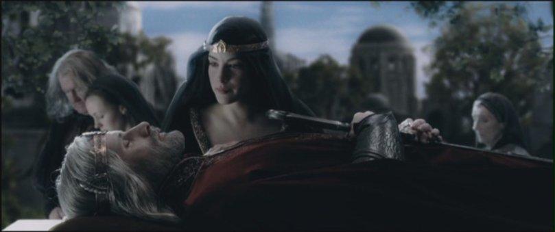 Flash forward scene with Arwen (Liv Tyler)