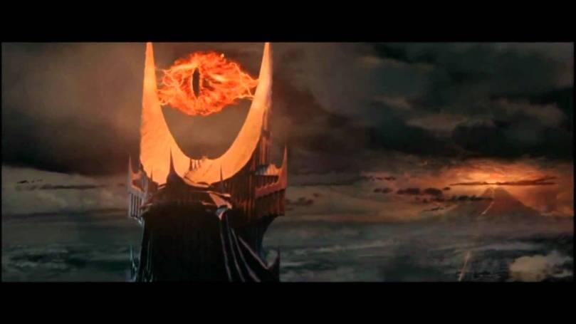 Saruman's eye atop Barad-Dur