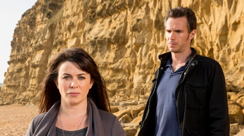 EMBARGOED UNTIL 20TH JANUARY. KUDOS AND IMAGINARY FRIENDS FOR ITV BROADCHURCH SERIES 2 Pictured: EVE MYLES as Claire and JAMES DARCY as Lee Ashworth. This image is the copyright of ITV.
