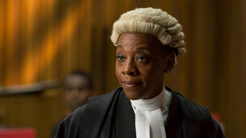 EMBARGOED UNTIL 20TH JANUARY. KUDOS AND IMAGINARY FRIENDS FOR ITV BROADCHURCH SERIES 2 Pictured: MARIANNE JEAN BAPTISTE as Sharon Bishop. This image is the copyright of ITV.